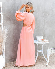Neoma Cutout Maxi Dress - Bright Blush view 2