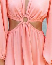 Neoma Cutout Maxi Dress - Bright Blush view 4