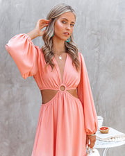 Neoma Cutout Maxi Dress - Bright Blush view 10