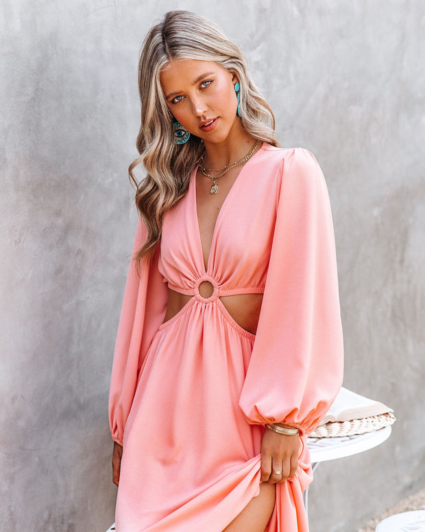 Neoma Cutout Maxi Dress - Bright Blush view 8