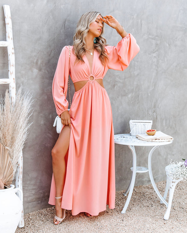 Neoma Cutout Maxi Dress - Bright Blush view 9