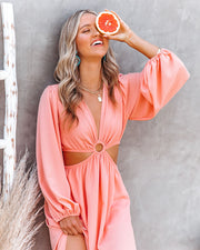 Neoma Cutout Maxi Dress - Bright Blush view 7