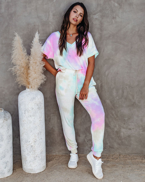 Nightlight Pocketed Tie Dye Knit Joggers