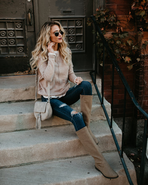 Luxe In Love Sweater - Mocha - FLASH SALE