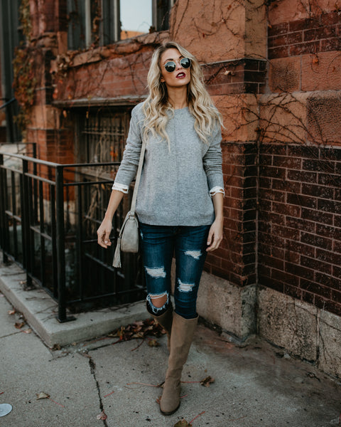 Luxe In Love Sweater - Heather Grey - FLASH SALE