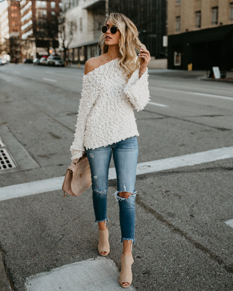 Fuzzy Feeling Sweater - Ivory