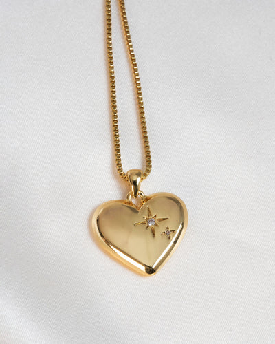 Olive + Piper - Amour Heart Pendant Necklace