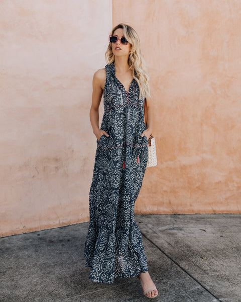Lolita Tiered Pocketed Maxi Dress