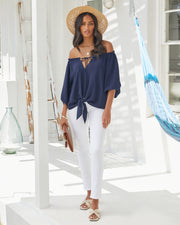 Rhodes Off The Shoulder Tie Blouse view 6