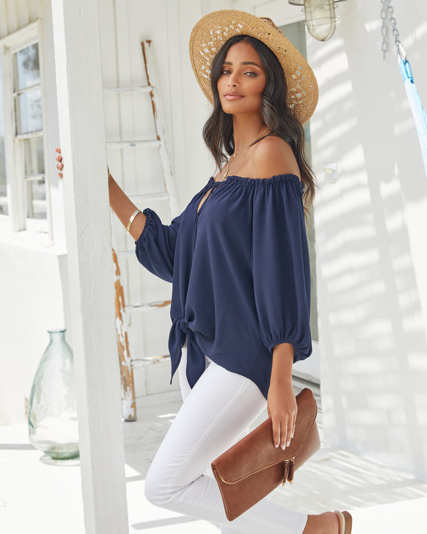 Rhodes Off The Shoulder Tie Blouse view 9