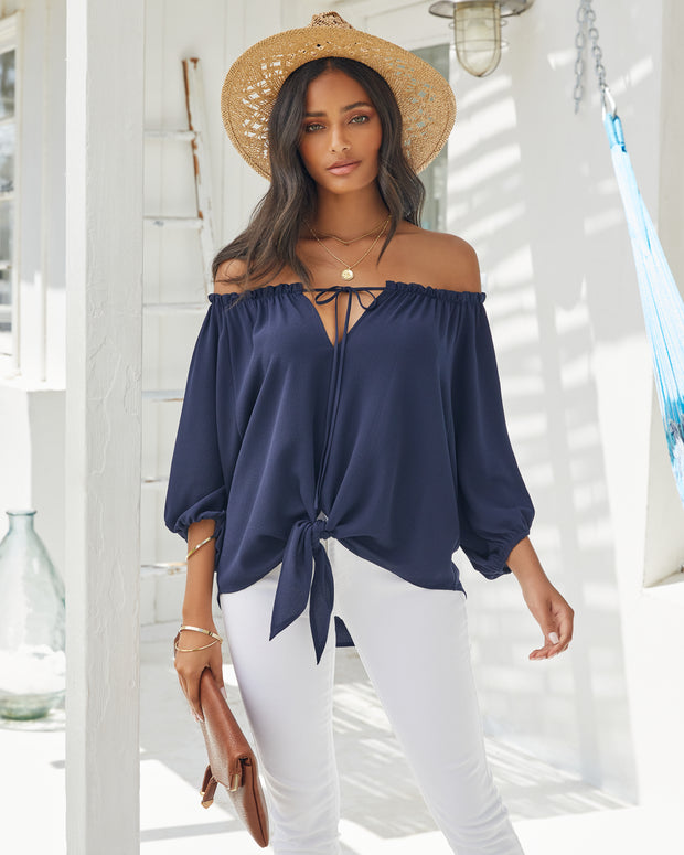 Rhodes Off The Shoulder Tie Blouse view 1