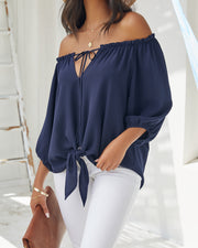 Rhodes Off The Shoulder Tie Blouse view 7