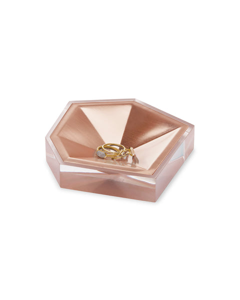 KENDRA SCOTT - Faceted Ring Dish - Rose Gold