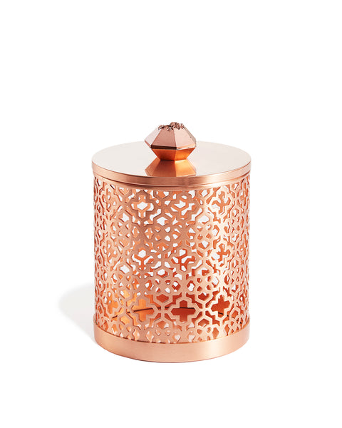 KENDRA SCOTT - Filigree Canister - Rose Gold Drusy