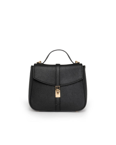 Ramona Faux Leather Crossbody Handbag - Black