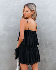 Redcrest Pleated Romper - Black