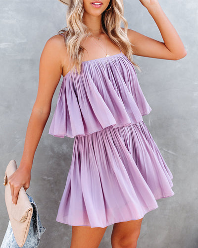 Redcrest Pleated Romper - Purple Dove
