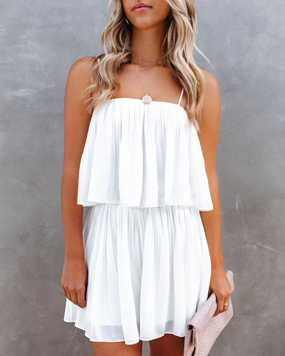 Redcrest Pleated Romper - Off White
