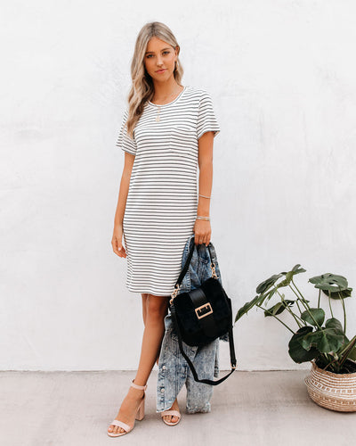 Reef Cotton + Modal Striped T-Shirt Dress