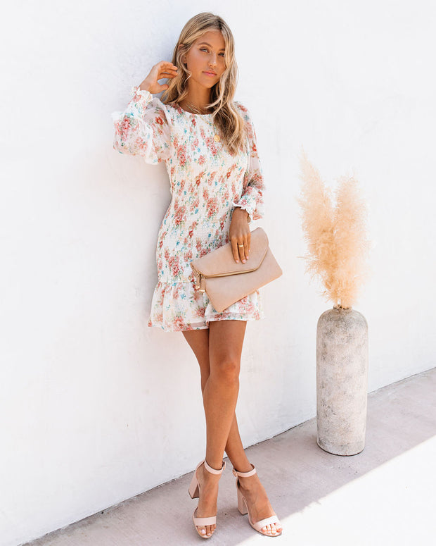 Regan Floral Smocked Ruffle Dress - FINAL SALE