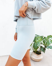 Restore Biker Shorts - Light Blue