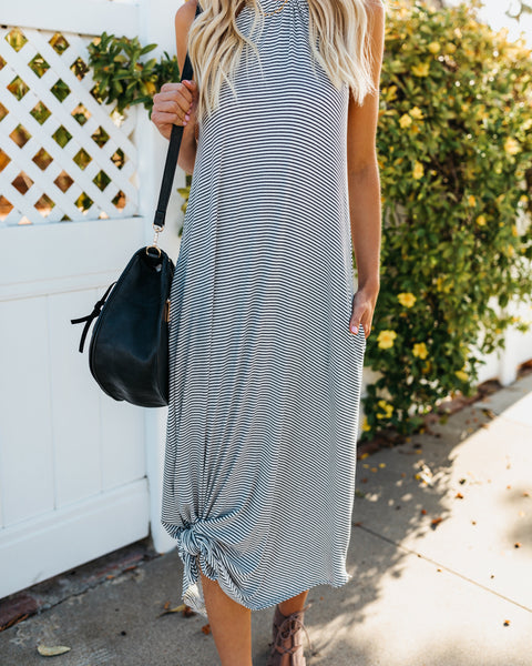 Run Around Town Striped Pocketed Dress