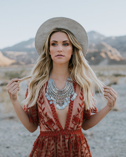 PREORDER - Mojave Moon Statement Necklace