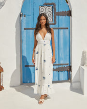Scenic Town Embroidered Floral Maxi Dress view 14