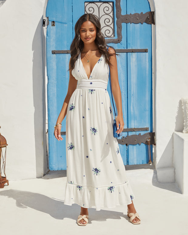 Scenic Town Embroidered Floral Maxi Dress view 1