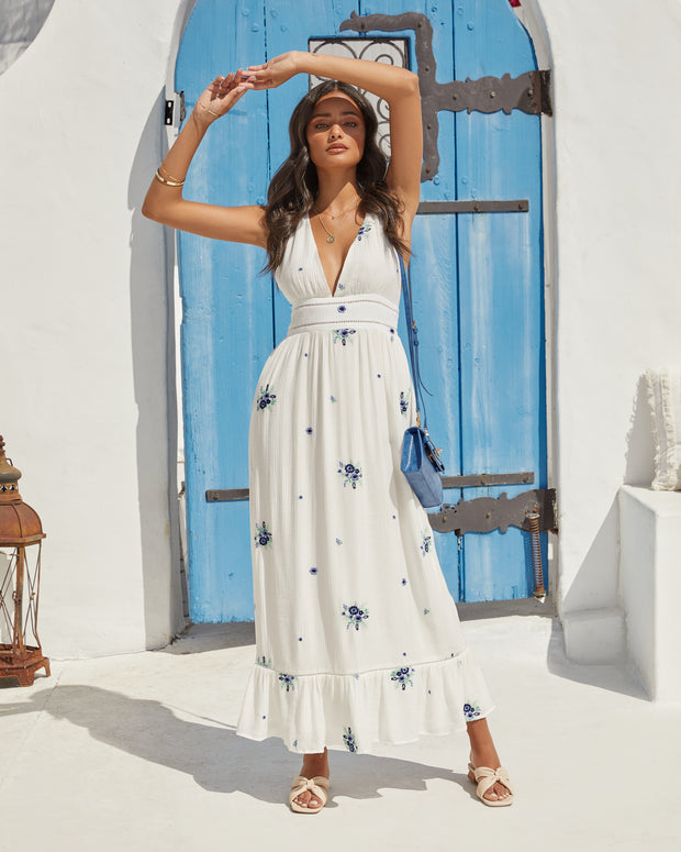 Scenic Town Embroidered Floral Maxi Dress view 4