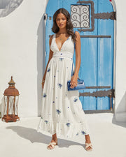 Scenic Town Embroidered Floral Maxi Dress view 5