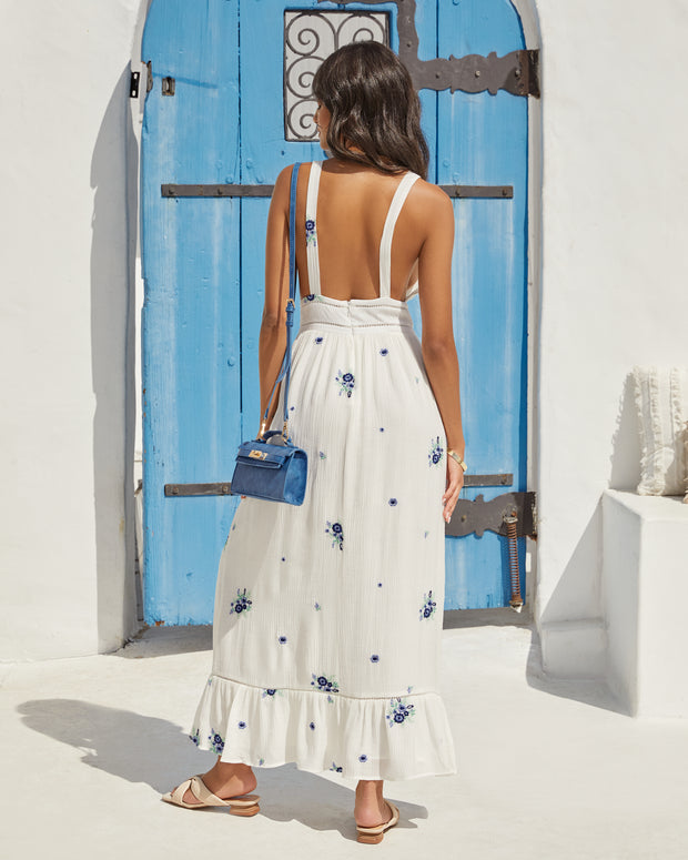 Scenic Town Embroidered Floral Maxi Dress view 2