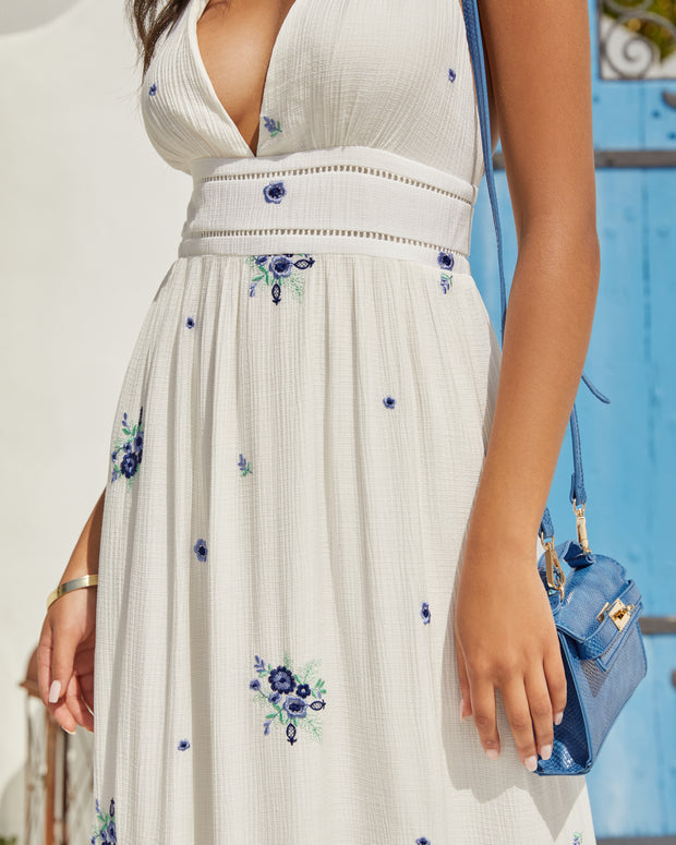 Scenic Town Embroidered Floral Maxi Dress view 10