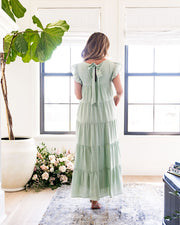 Sid Pocketed Tiered Maxi Dress - Pistachio view 2