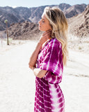 Star Valley Tie Dye Kimono Maxi Dress