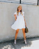 Stole Your Heart Babydoll Swing Dress - White