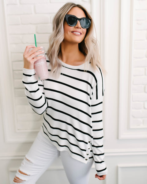 Coastal Calling Striped Sweater
