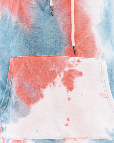 Seamus Pocketed Tie Dye Knit Hooded Dress