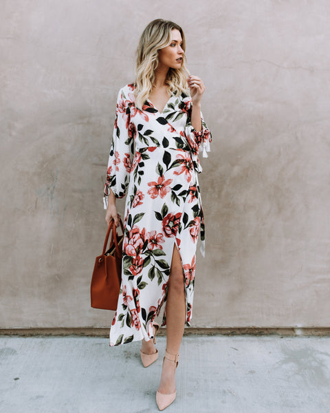 Love Abloom Wrap Dress