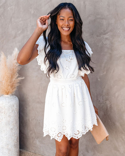 She's A Natural Cotton Eyelet Mini Dress - FINAL SALE