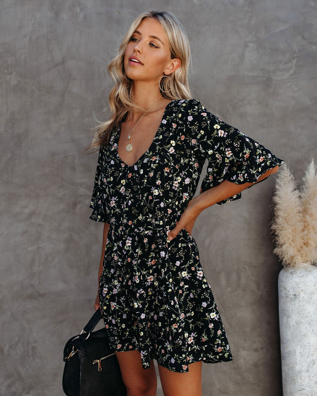 Simple Life Floral Tiered Babydoll Dress