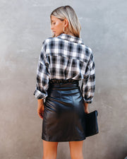 Smalls Faux Leather Wrap Skirt - FINAL SALE view 2