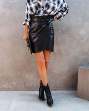 Smalls Faux Leather Wrap Skirt - FINAL SALE view 11
