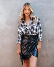 Smalls Faux Leather Wrap Skirt - FINAL SALE view 12