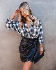Smalls Faux Leather Wrap Skirt - FINAL SALE view 5