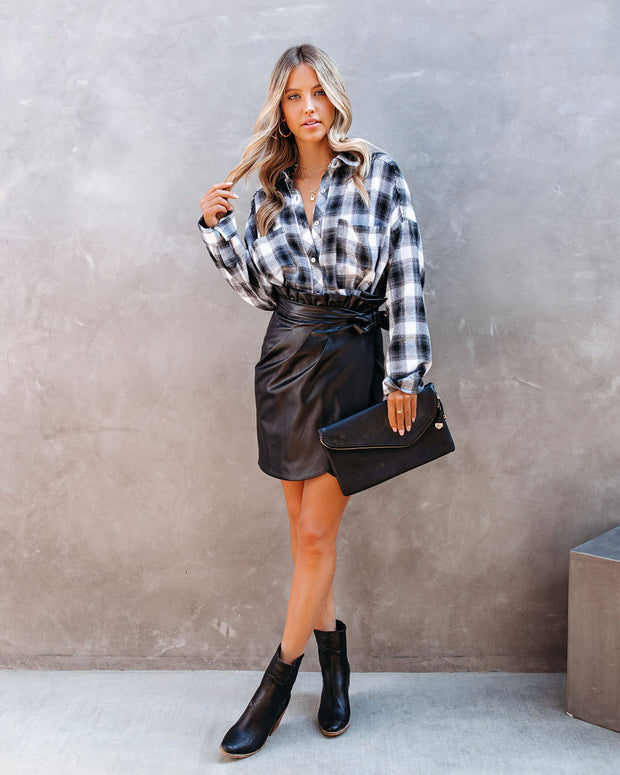 Smalls Faux Leather Wrap Skirt - FINAL SALE view 7