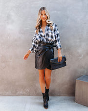 Smalls Faux Leather Wrap Skirt - FINAL SALE view 8