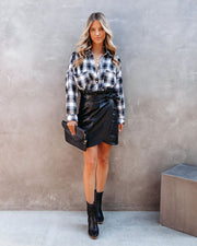 Smalls Faux Leather Wrap Skirt - FINAL SALE view 1