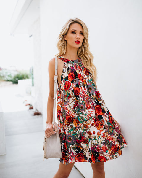 Smell The Roses Swing Dress - FINAL SALE