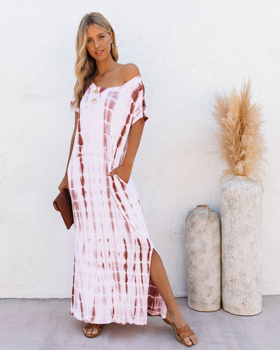 Staycation Pocketed Tie Dye Knit Maxi Dress